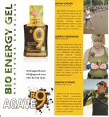 Advertising campaign for Bio energy gel AGAVE 9
